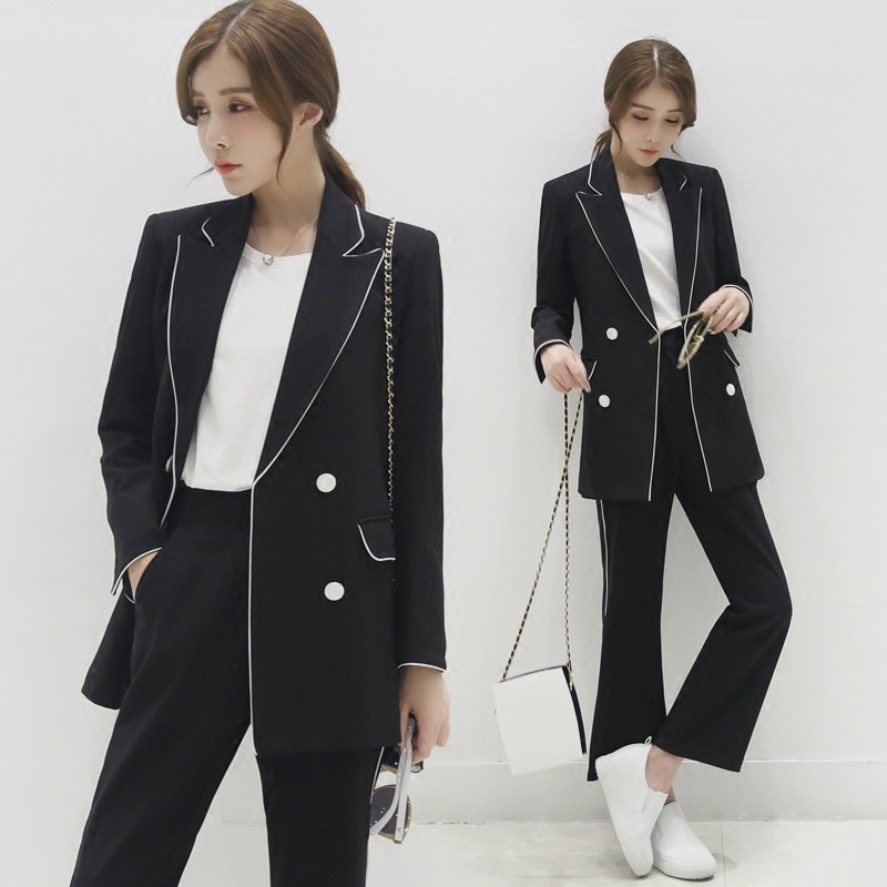 2019 Women Jacket Long Sleeve Feminina Suit Blazer Casual Double Breasted Blazer Mujer Plus Size Blazer