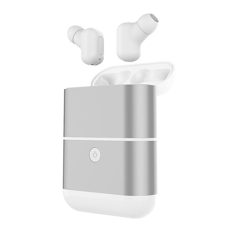 TWS-X2 Mini Bluetooth Earphone Wireless Small Earbuds Stereo 1600mAh Power Bank for phone sport waterproof with microphone все цены