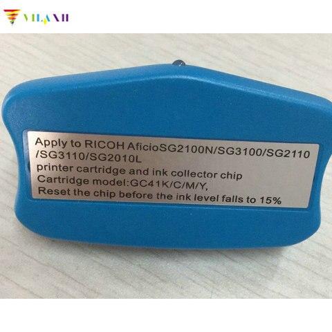 resetter chip para ricoh vilaxh gc41 cartucho de tinta para ricoh aficio sg2100n sg3100 sg3100snw