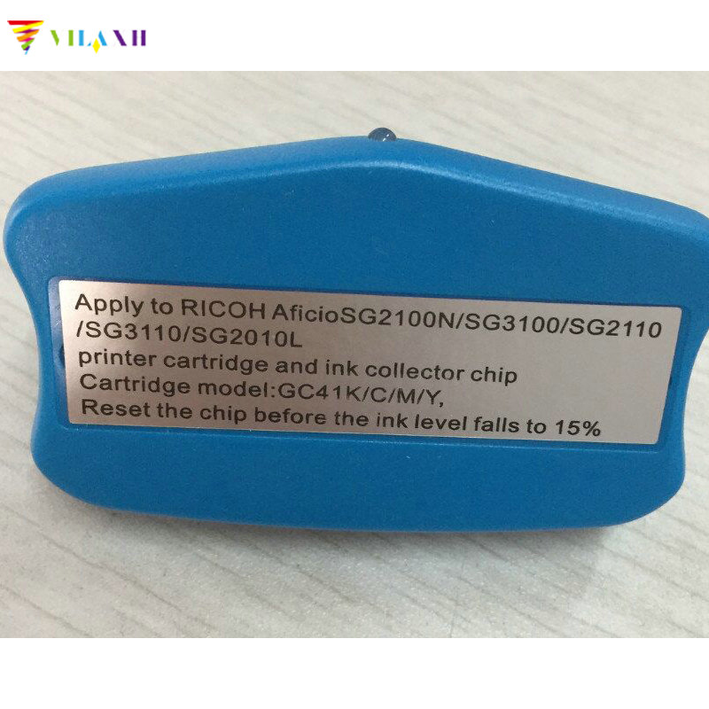 vilaxh Chip Resetter For Ricoh GC41 Ink Cartridge For Ricoh Aficio SG2100N SG3100 SG3100SNW SG3110DNW SG3110DN SG3110SFN printer hwdid 56xl 57xl ink cartridge compatible for hp 56 57 c6656a c6657a deskjet 450ci 5550 5552 7150 7350 7000 2100 220 printer