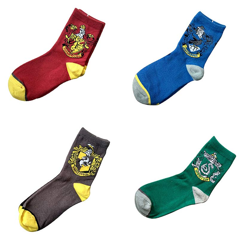 Harry Potter Socks College Plush Socks Cosplay Accessories Harri Gryffindor Hufflepuff Slytherin Ravenclaw Halloween Wholesale
