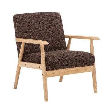 Стул среднего века с современным акцентом и деревянной рамкой, мягкое заднее кресло для дома, отеля, спальни, гостиной, мебели