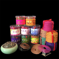 48Pcs/Box Bathroom Interior Bedroom Toilet Odor Of Natural Perfume Aromatherapy Sandalwood Coil Incense Tibetan Incense India