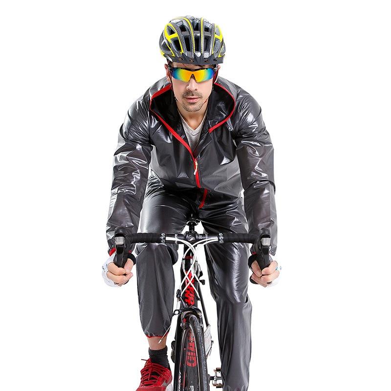 Split type bike fishing raincoat outdoor waterproof unisex belt reflective luminous rain pants riding suit cycling clothing