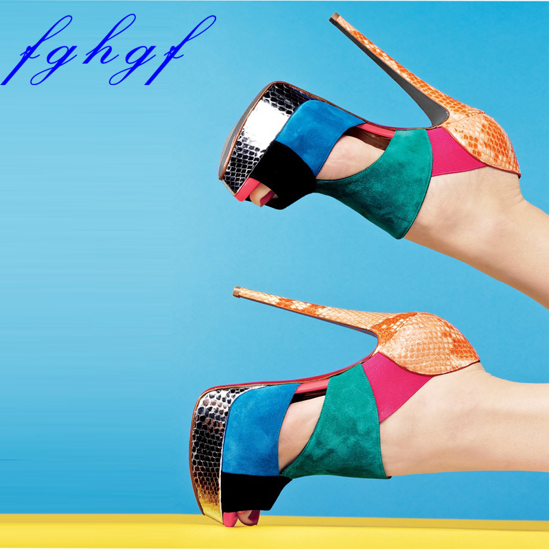 Fghgf New Women s sandals 12 5cm and multicolor women s sexy heels are ideal for