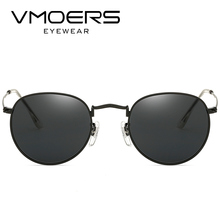VMOERS Retro Small Round Sunglasses Men Vintage Brand Shades Male Black Metal Sun Glasses For Men 2018 Fashion Designer Lunette