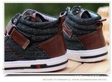 Korean fashion men Denim canvas shoes casual mens hip hop high top shoes flats male Single shoes Zapatillas Lona Hombre Tufli