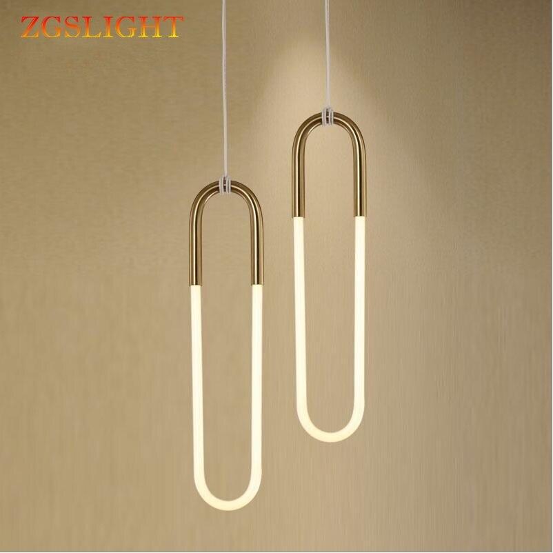 Современный простой декоративный подвесной светильник, лампа для спальни, магазин, кафе, ресторан, светодиодный подвесной светильник из ла
