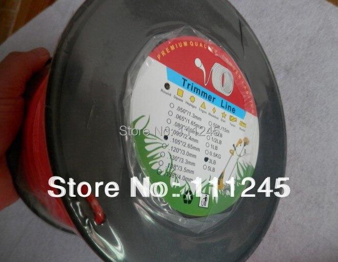 Ronde X 2.65 MM X 3LB rouleau bobine ligne de coupe-herbe de qualité supérieure tout nouveau 0.105