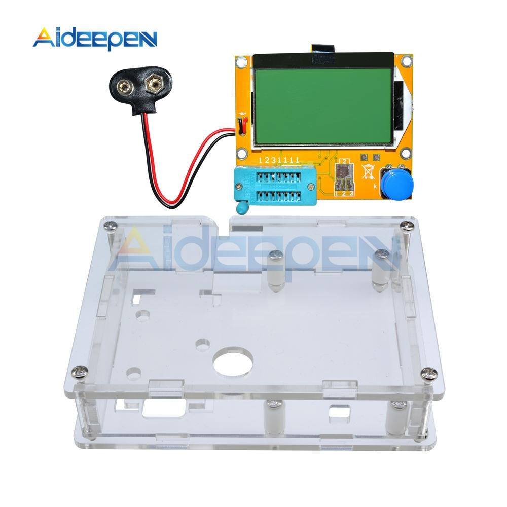 Acrílico transparente Caso Shell Habitação Para LCR-T4 M328 Transistor Testador Capacitância ESR Mega328 Kit Diy