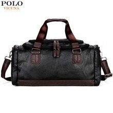 Vicuna polo lrage kapazität patchwork männer reisetasche perfekte qualität mann leder reisetaschen england stil herren reisen handtaschen