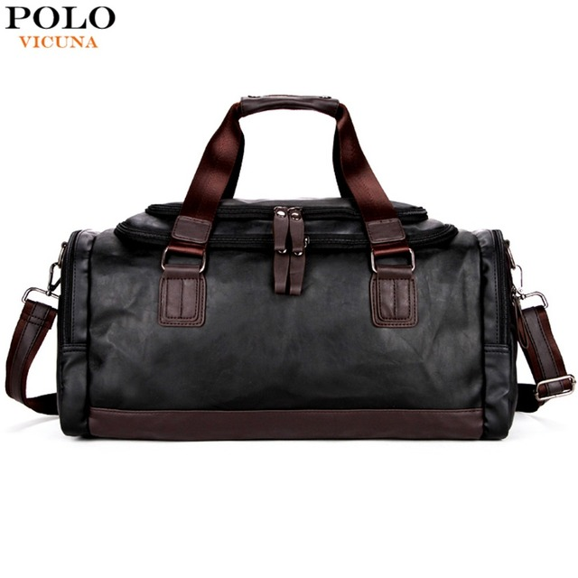 2d0493428 VICUNA POLO Lrage Capacity Patchwork Men Travel Bag Perfect Quality Man  Leather Travel Bags England Style Mens Travel Handbags