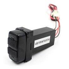 цена на Dual USB Car Charger Adapter For Mitsubishi 5V 2.1A USB Charging Plug For Mobile Phones Navigation Tablet PC GPS Tracker