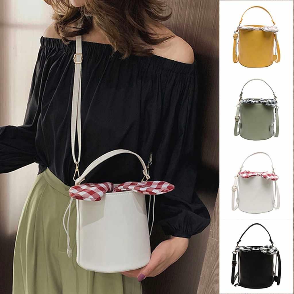 Woman Bag Ladies Girls FashionSolid BowknotShoulder Handbag Purse Crossbody bolsa feminina bags for women 2019 bolso mujer