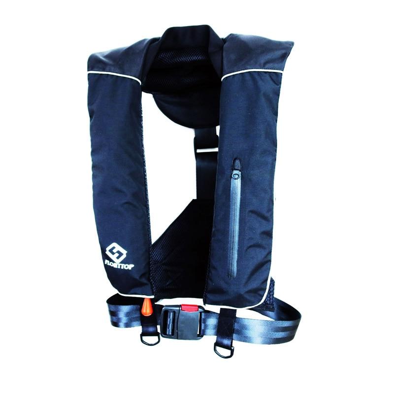 FLOATTOP взрослый автоматический ручной надувной спасательный жилет выживания плавание на лодках Рыбалка 150N плавучести 33lbs