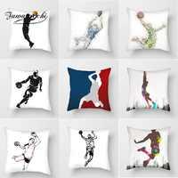 Fuwatacchi Pitch Spike Kissen Abdeckung Basketball Sport Kissen Abdeckung Für Home Sofa Dekoration Polyester Weiche Kissenbezüge