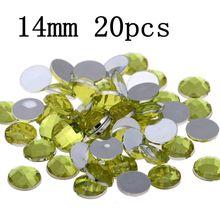 20pcs 14mm Craft Art DIY Stones Round Gems Flatback Earth Facets Acrylic  Rhinestone Strass High Shine e2ff0b357620