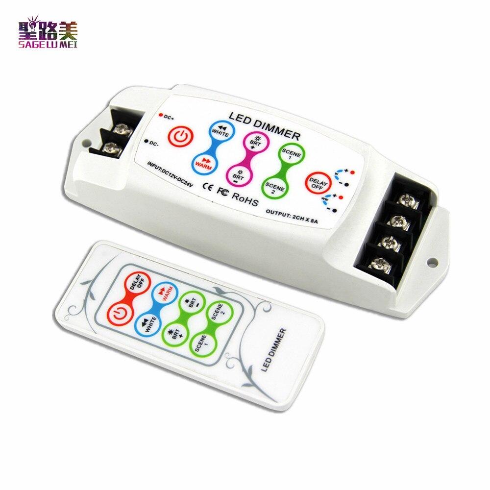 BC 310RF DC12V 24V CV 2channel constant current Color temperature CT led controller wireless led rf dimmer for 5050 led tape