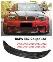 E82 Carbon Fiber Front Lip Spoiler Car Bumper Diffuser For BMW E82 1M Coupe 2008.2009.2010.2011.2012.2013.2014.2015.2016.2017