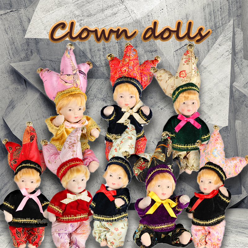 Fate angel ceramic mini movable knuckle doll retro poker clown god of love antique doll toy collection