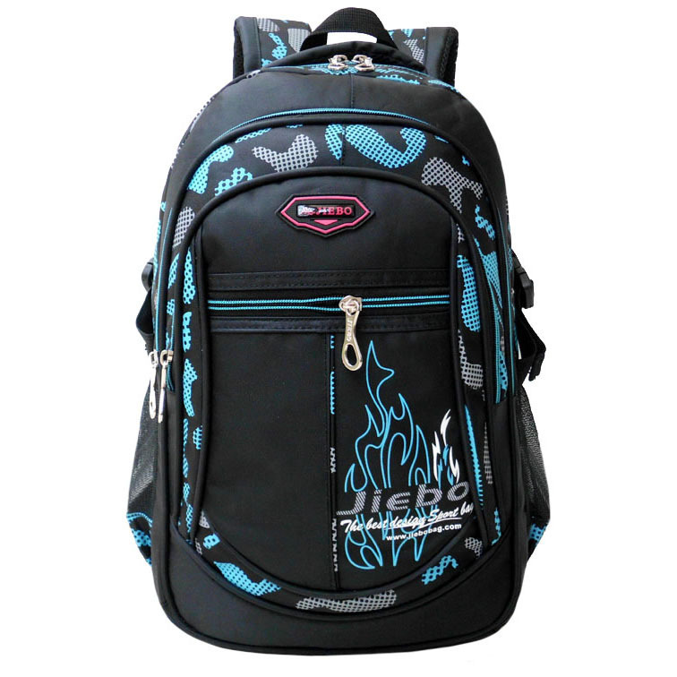 3cd50a2607c 2018 New High-Quality Nylon School Bag Primary And Middle School Student Backpack  Boy Double Shoulder Bookbag Mochila Infantil
