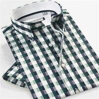 כותנה 2015 100% הגעה חדשה קיץ styel גברים חולצות משובצות מקרית camisa masculina זכר חולצה גודל גדול
