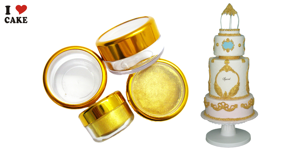 Italy GOlD Food coloring for cake and Silicone Fondant Cake ...