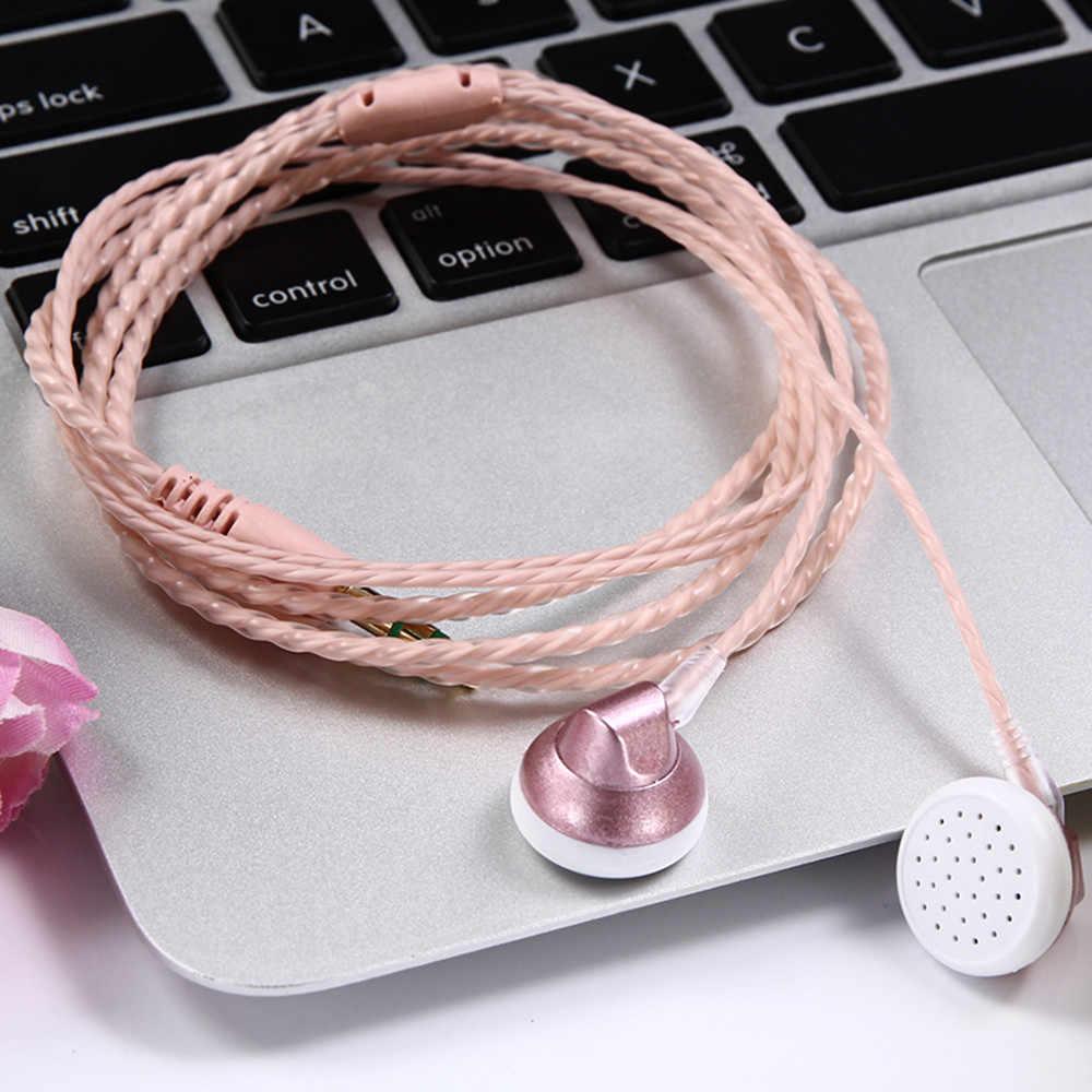 HIPERDEAL uniwersalny 3.5mm douszne słuchawki Stereo słuchawki bez mikrofonu do Mp3 telefon komórkowy dla iPhone Xiaomi Huawei # J