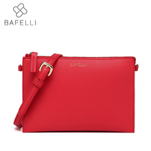 BAFELLI small flap shoulder handbag fashion Multicolor day clutches hot sale pink red bolsa mujer women messenger bag