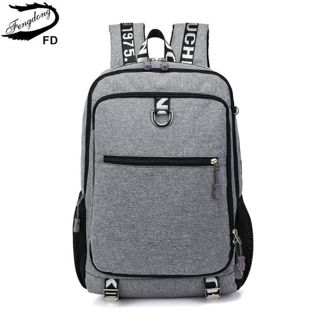 FengDong school bags for boys student school backpack men travel bags kids  boy laptop computer bag pack schoolbag dropshipping 64ed5a1d8c52b