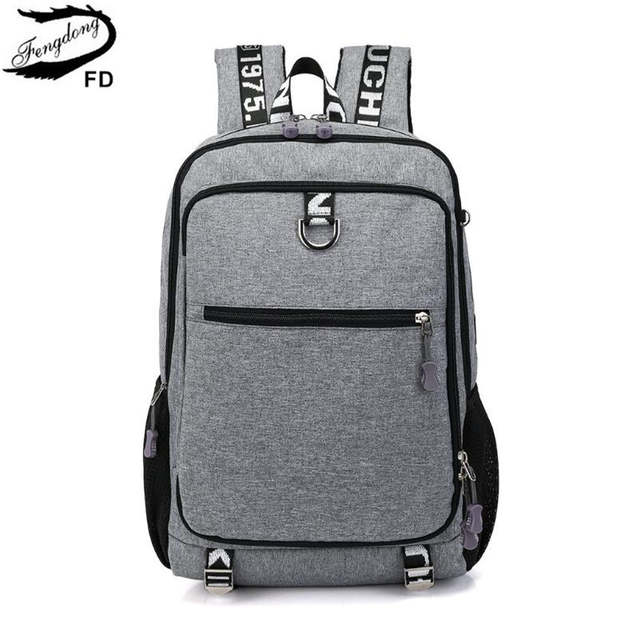 bd810f9d7a9f FengDong school bags for boys student school backpack men travel bags kids  boy laptop computer bag pack schoolbag dropshipping