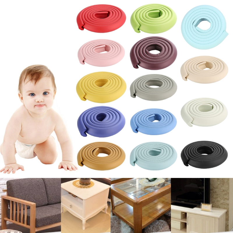 2m Baby Safety Corner Desk Guard Rubber Table Protection Kids L Shaped Soft Edge