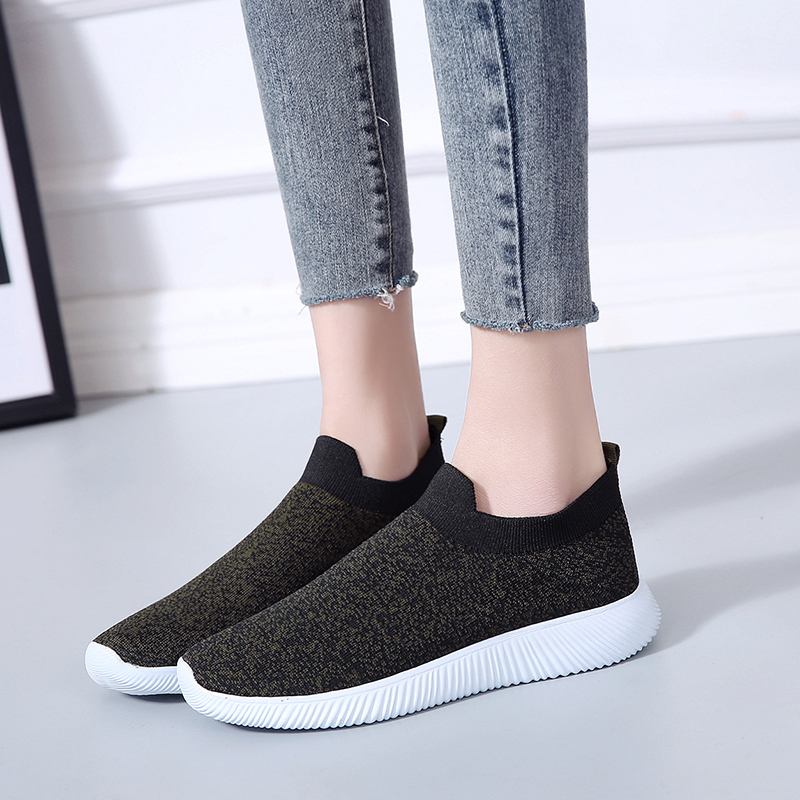 HTB1CK3TafvsK1Rjy0Fiq6zwtXXaF Rimocy plus size breathable air mesh sneakers women 2019 spring summer slip on platform knitting flats soft walking shoes woman