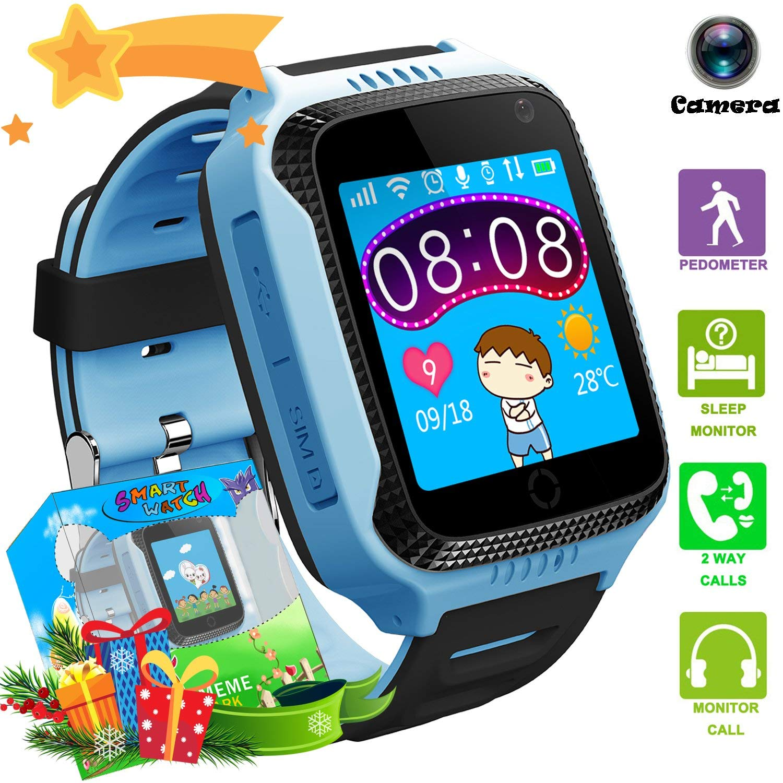 Enfants montres intelligentes GPS LBS Flash veilleuse écran tactile Anti-perte alarme montre intelligente Bracelet enfants filles garçons IOS Android