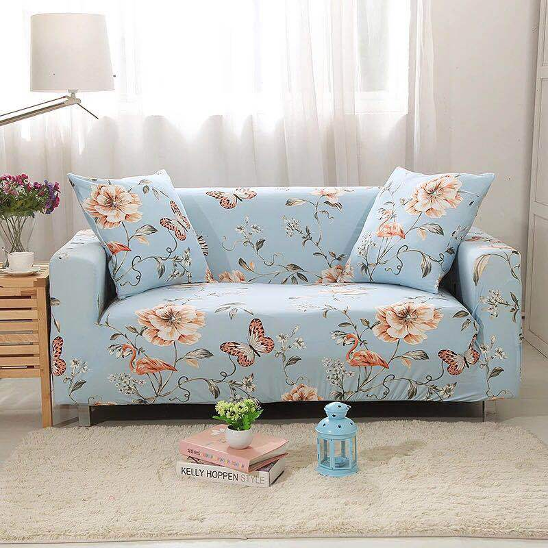 New Idyllic Plant Style Print Universal Slipcovers Sectional Elastic Stretch Sofa Cover for Living Room Furniture Couch Cover