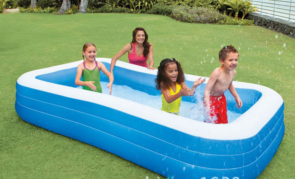 Big Size Pool Adult family splashing ocean balls sand tub kids Portable Inflatable swimming pool children bathtub 305x183x56CM environmentally friendly pvc inflatable shell water floating row of a variety of swimming pearl shell swimming ring