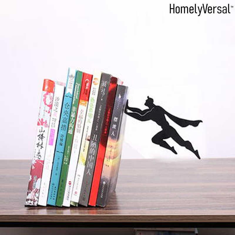 Sujetalibros para Estantes Color : A Sujetalibros Simple para Estudiantes Decoraci/ón De Manualidades De Estudio Sujetalibros De Metal JJJJD Bookends Creativos De Batman