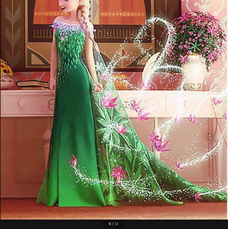 Retai Cinderella dress, Elsa girls costume custom size for kids princess dress sequined cartoon costume girls dresses guano apes cologne
