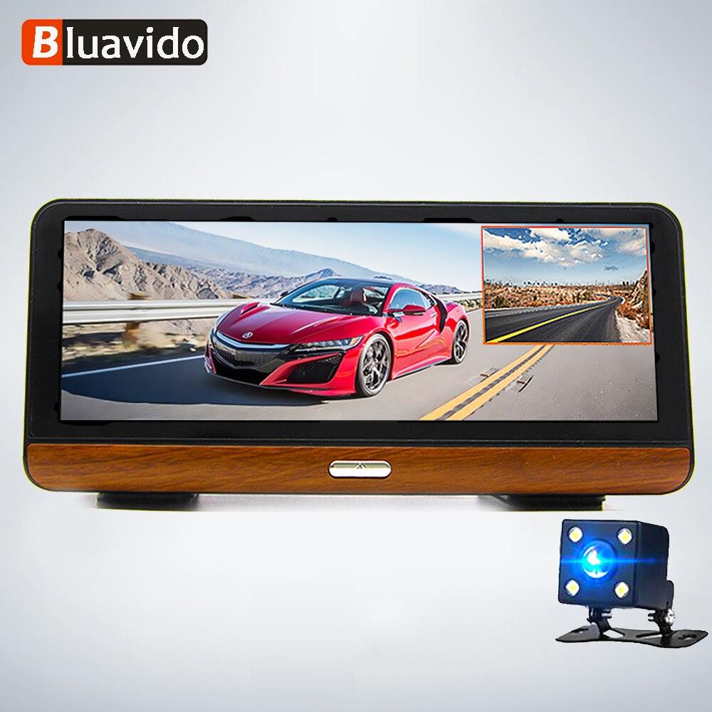 Bluavido DVR Car-Dash-Camera Android Navigation Live-Monitor Wifi ADAS Night-Vision FHD