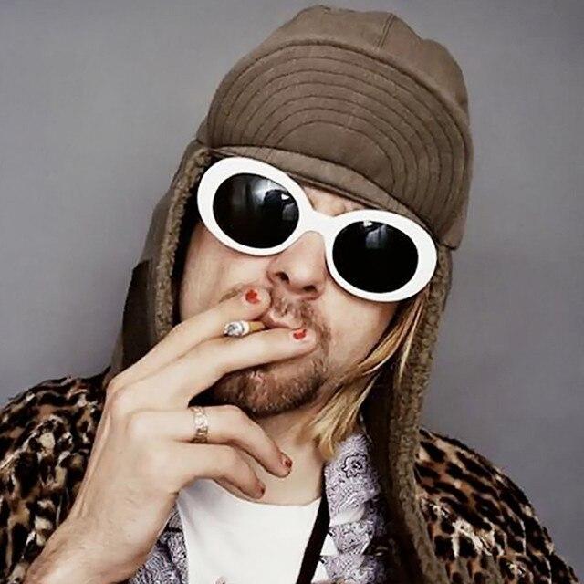 6bab89dd44 Molgirl moda mujer oval Gafas de sol Nirvana Kurt Cobain Gafas de sol  hombres vintage retro