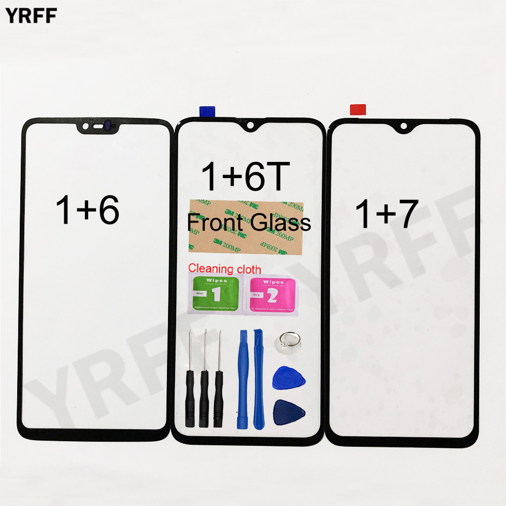 Mobile Front Panel Glass For Oneplus 7 6T 6 Front Glass Outer Glass Cover Panel Replacement