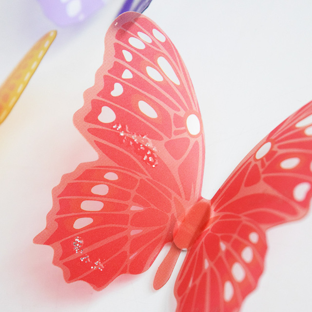 3d Effect Crystal Butterflies Wall Sticker Beautiful Butterfly Home Decoration On the Wall 3
