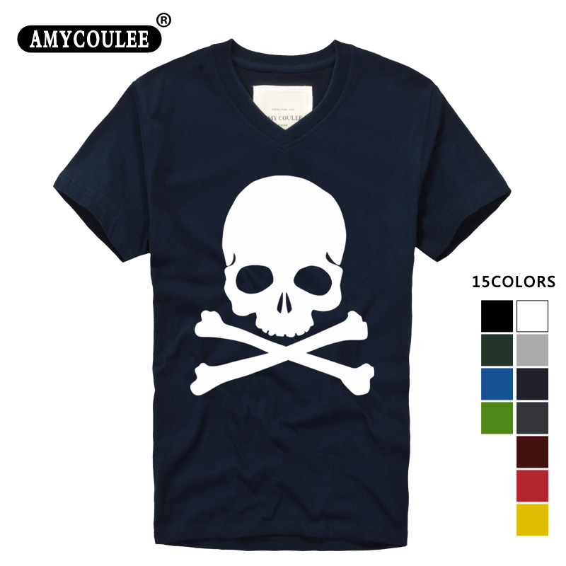The Punisher Skull Men Fashion T Shirt Print Marvel Comics Clothes HIP-HOP Style Summer Own Design camisetas hombre manga corta image