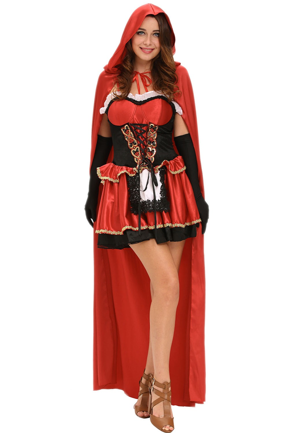 2016 new winter women 39 s sexy three piece fairy tale little red costume lgy8992 in sexy costumes. Black Bedroom Furniture Sets. Home Design Ideas