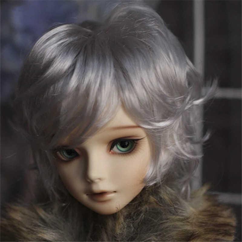 Allaosify, 1/3, высокотемпературный парик для мальчика, короткие кудрявые парики, Air bang SD BJD, парик с челкой, модный тип, стильные волосы для кукол