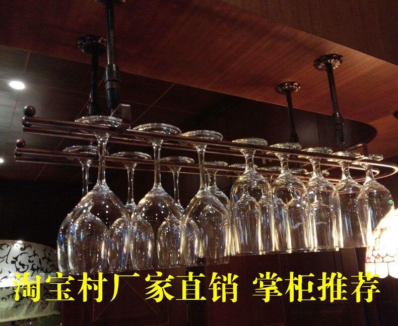 Top-rated 2017 casier à vin en fer casier en verre à vin tenture murale support de verre casier à vin 80 cm (L) 25 cm (W)