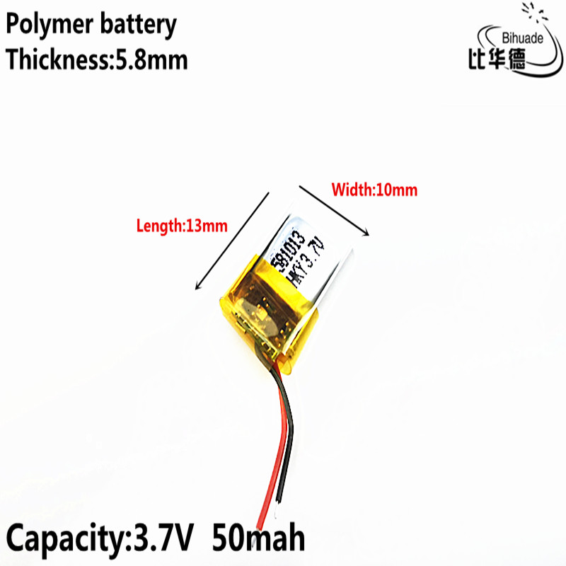 Good Qulity Liter Energy Battery 3.7V 50mAh 581013 Polymer Lithium Ion / Li-ion Battery
