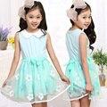 Девочки-младенцы цветочный свободного покроя платье дети в одежда дети лето хлопок принцесса платья Vestido Infantil Menina