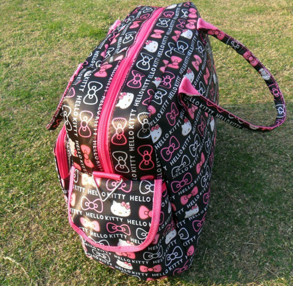 a9937aed5d Hello Kitty Ultra large Capacity Weekend bag Luggage Handbag Portable One  Shoulder Cross Body Diapers Bag-in Travel Bags from Luggage   Bags on ...