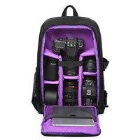 Multi functional Waterproof w/ Rain Cover 15.6 Laptop Video Case Digital DSLR Photo Padded Backpack Camera Soft Bag for SLR